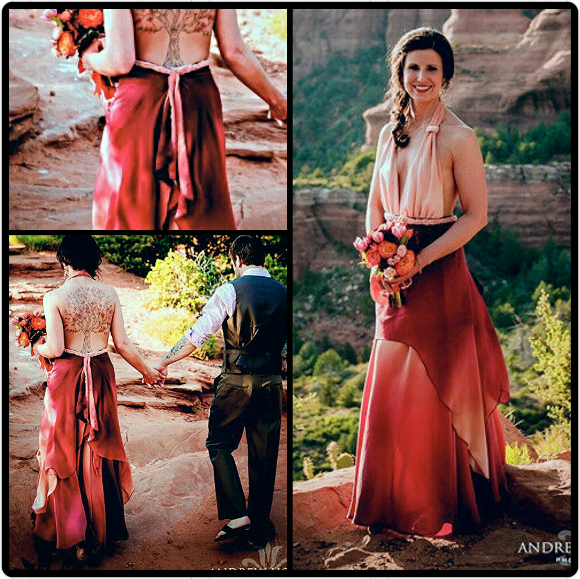 15 stunning red wedding gowns ombre wedding dress image