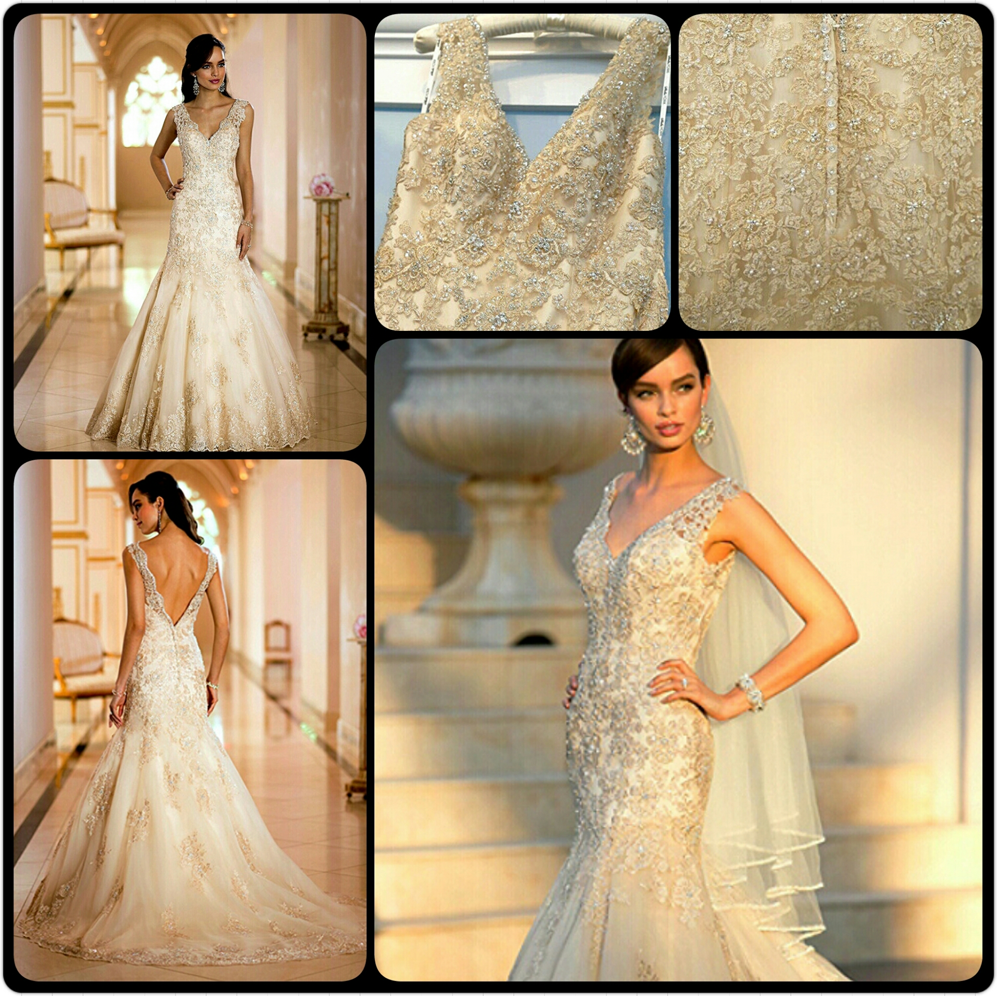 10 Golden Goddess Wedding Gowns | TAGWeddings
