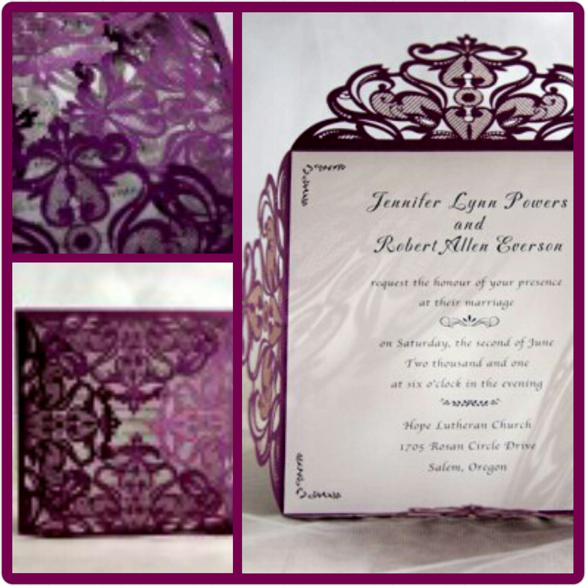 Perfectly Purple Wedding Invites For Fall