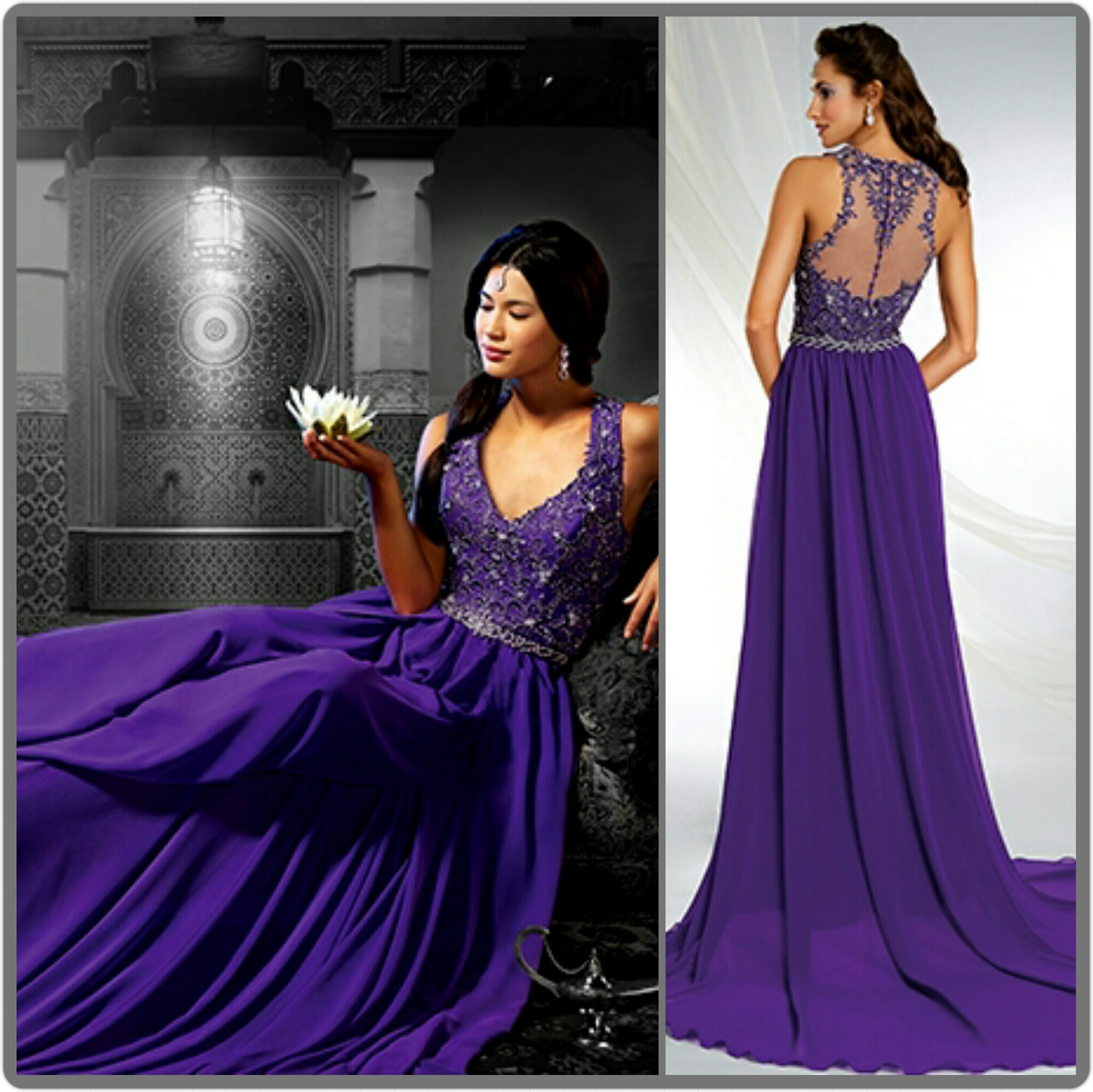 20 Gorgeous Wedding Gowns in Shades of Purple | TAGWeddings