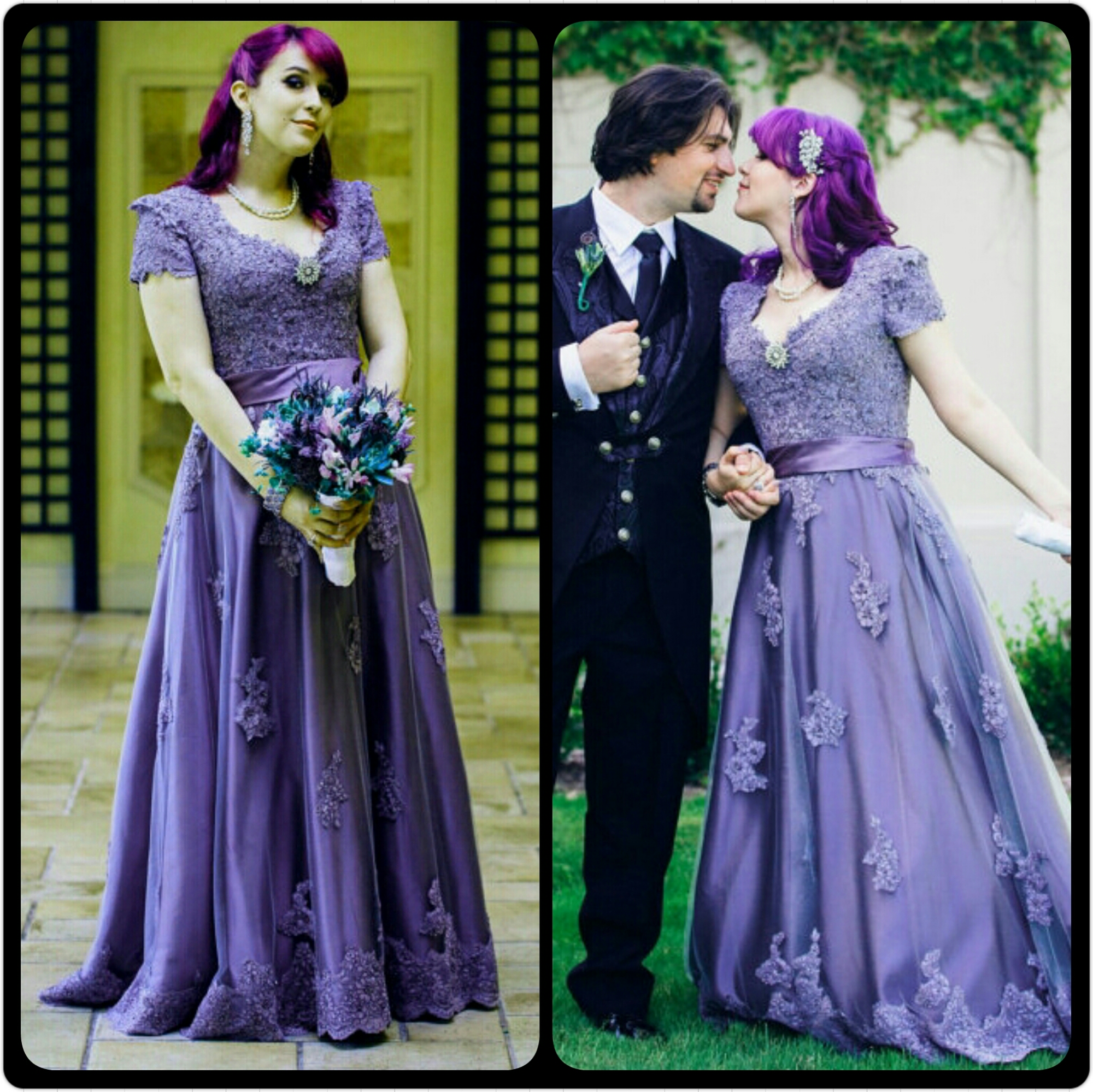 20 Gorgeous Wedding Gowns In Shades Of Purple
