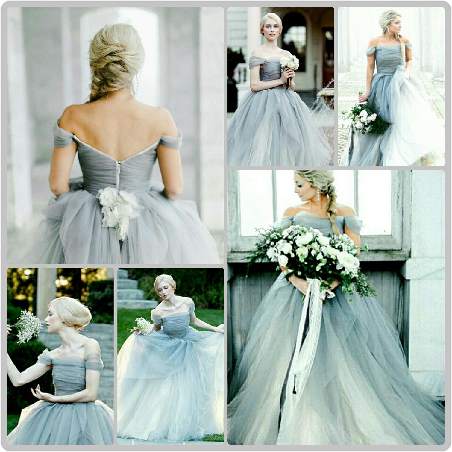 Grey & Lilac Grey Wedding Gowns ~ The Hot Alternative To Blush ...